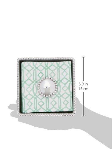 Mariposa Round Pearl Beaded Napkin Box by Mariposa (Image #2)
