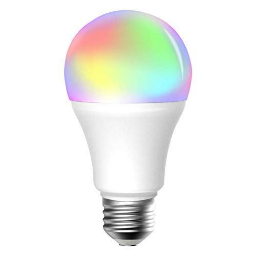 (meross Smart Wi-Fi LED Bulb, Multiple Colors, RGB, 60W Equivalent, Compatible with Alexa, Google Assistant and IFTTT, E26 Light Bulb, No Hub Required)