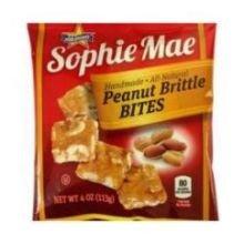 Sophie Mae Peanut Brittle Bites Candy, 4 Ounce - 12 per case.