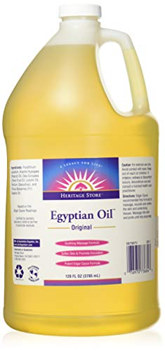 Heritage Store Body Oil, Original Egyptian, 128 Ounce