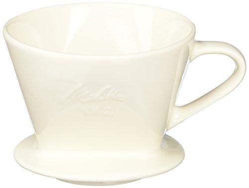 《메리타》 커피 드 re《파》 도기 필터 2~4 배용 오프 화이트 메이저 스푼부 SF-T 1×2