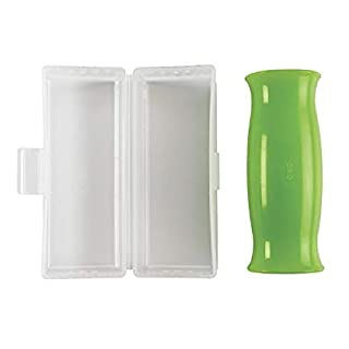 OXO Good Grips Silicone Garlic Peeler with Stay-Clean Storage Case,Clear,1EA
