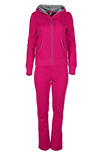16 Full Zip Hooded Fleece (Womens Ladies Contrast Hoodie Pockets Zip Long Sleeves Fleece Cords)