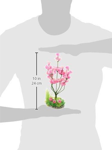 Amazon.com : eDealMax Ornamento planta Jardin plástico Artificial del Flor del ciruelo Árbol Para el acuario, 9, 6 pulgadas, Color de rosa : Pet Supplies
