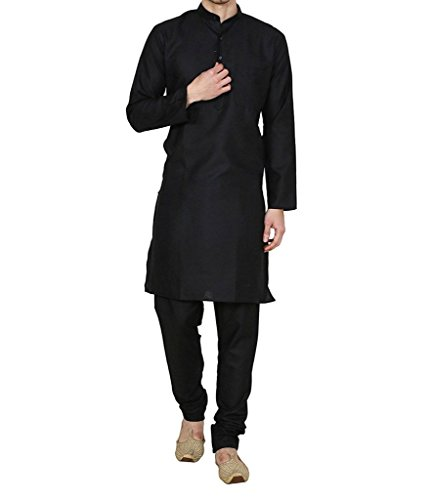 Royal Men's Cotton Linen Basics Khadi Marriage Wear Kurta Pajama Set