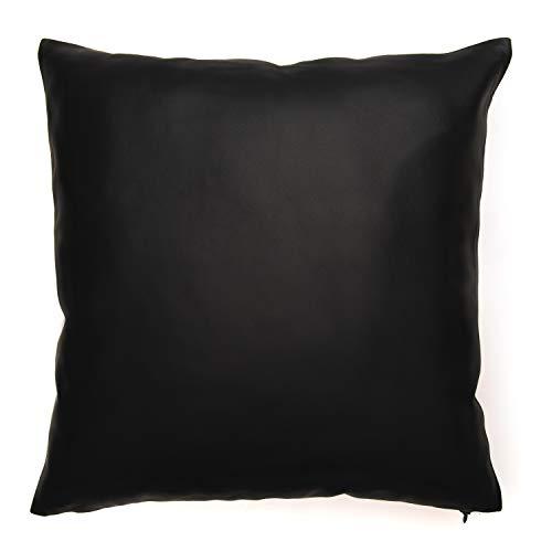 The Mammoth Design Genuine Leather Throw Pillow Cover | Sheepskin Lambskin Cushion Case| 16
