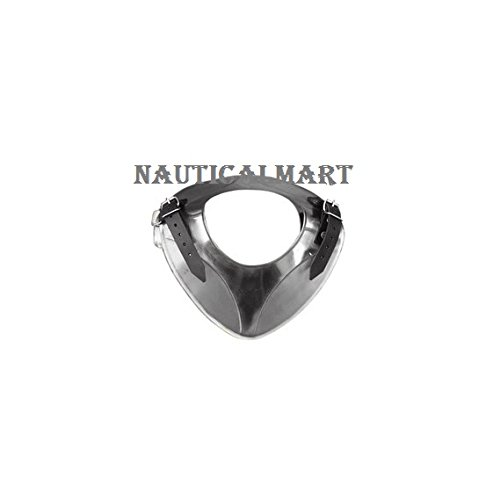 NAUTICALMART King Gorget - Medieval Neck Armor One Size Fit All - Silver Armour by NauticalMart