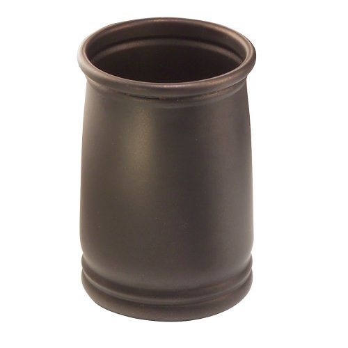 - InterDesign Cameo Tumbler Cup for Bathroom Vanity Countertops - Bronze