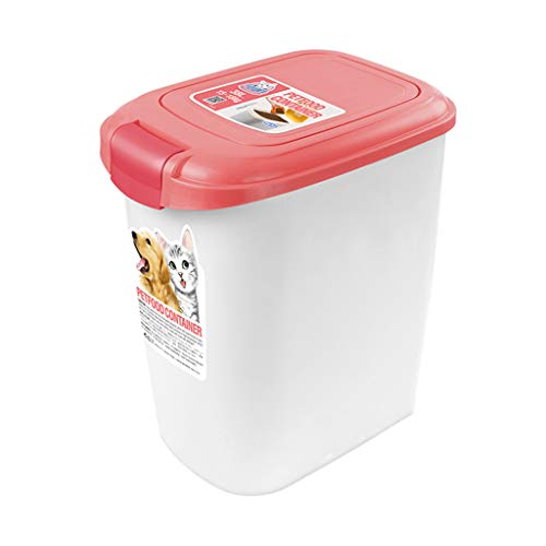 Jlxl Mascota Comida Envase, 15L Grande Animal Almacenamiento Pájaro Semilla Caja Tapa con para Cuchara Grieta Resistente...