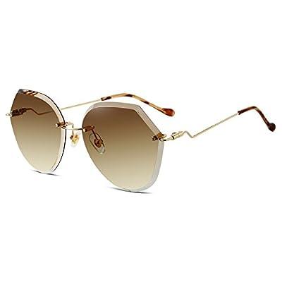 Sunyan Au début du printemps nouveau transparent no box polygon lunettes de soleil femme lunettes de soleil UV400 résistant aux rayures, aux UV et lunettes élégant