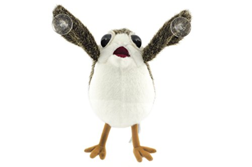 Star Wars The Last Jedi Porg on Board Figure Suction Cup Plush - White and Brown