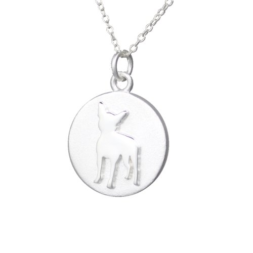 Mochi & Jolie Silver Pendant Necklace, Boston Terrier