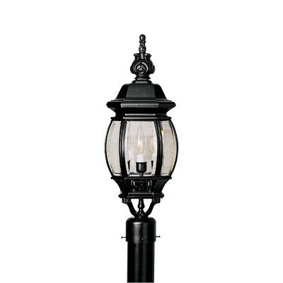 Riviera 3 Light Post Lantern Finish: Black by Designers Fountain