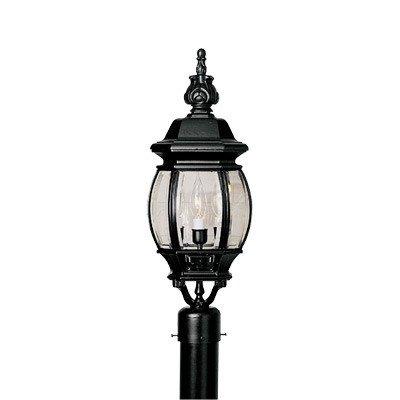 Riviera 3 Light Post Lantern Finish: Black