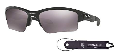 Oakley Quarter Jacket OO9200 920017 61M Matte Black/Prizm Daily Polarized Sunglasses For Juniors+BUNDLE with Oakley Accessory Leash Kit
