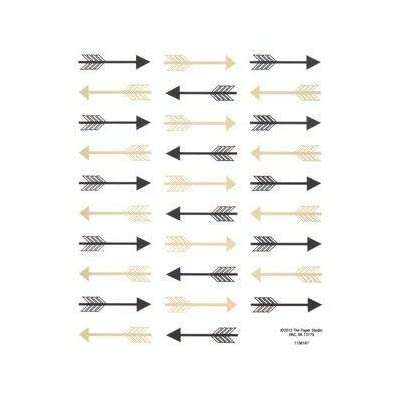 Black and Gold Arrow Stickers - 2 Sheets Stickers: Arts, Crafts & Sewing