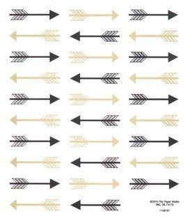 (Black and Gold Arrow Stickers - 2 Sheets Stickers )