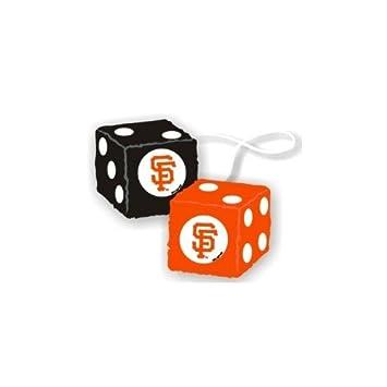 Mlb San Francisco Giants Plush Team Fuzzy Dice Orange Auto
