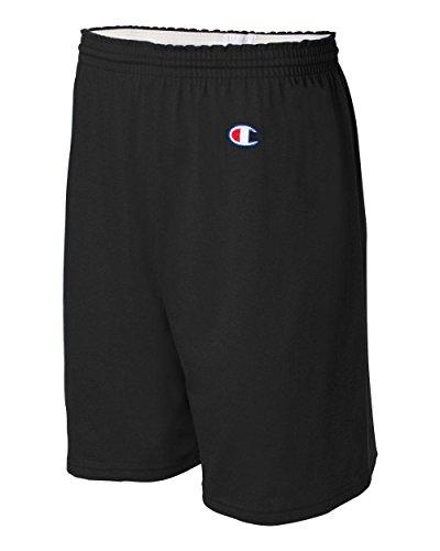 champion-mens-6-inch-black-cotton-jersey-shorts-medium