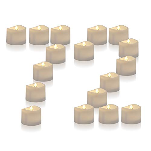 : Homemory 72 Pack Flameless Flickering LED Tealight Candles Battery Operated Votive Tealight Electric Tea Lights, Warm White