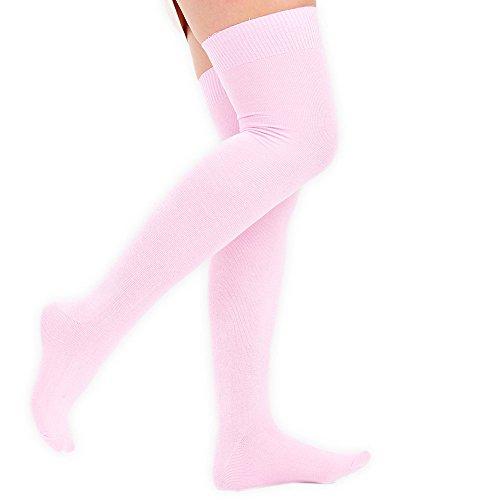 23 en 3 Vivid 4 Rosa o Tama altos pares 1 Overknees Color Reino damas Unido calcetines 5 6 rodilla muslo la beb mujeres o 57wnF6nXq