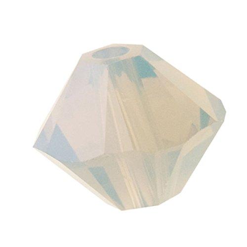 Light Grey Opal Swarovski Crystal - Swarovski Crystal, 5328 Bicone Beads 3mm, 25 Pieces, Light Grey Opal