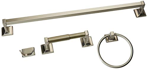 Hardware House 689497 Sunset Collection 4-Piece Bathroom Accessory Set, Satin Nickel