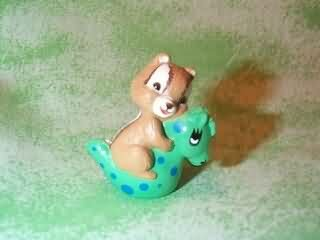 Hallmark Merry Miniature - Chipmunk ON Inflatable Horse - NT