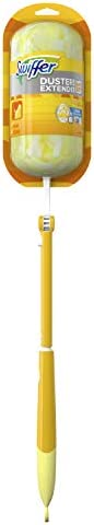 Swiffer Dusters Extendable Handle Starter Kit For Multi Surface Cleaning (1 Handle, 4 Dusters)