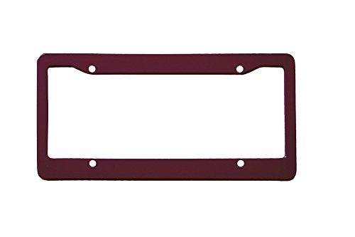Solid Maroon Plastic License Plate - Frame Bordeaux