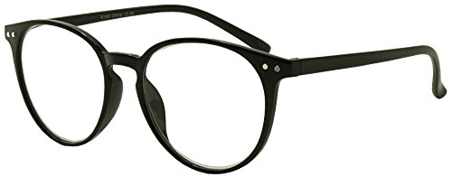 Original Classic Round Vintage Prescription Magnification Reader Eye Glasses Rx Power Strength +150 +175 +200 +2.25 +250 +300 (Black, 1.50)