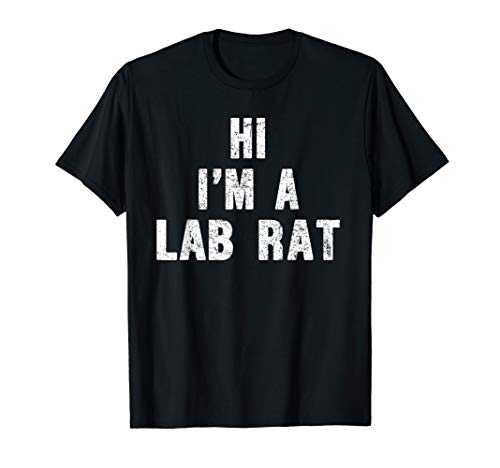 I am a Lab rat Halloween Costume Shirt Hallween Costume Funn