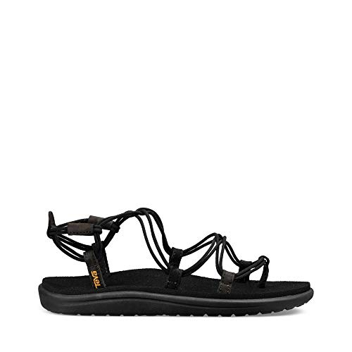 Water Shoes Teva (Teva Women's W Voya Infinity Flip-Flop, Black, 8 M US)
