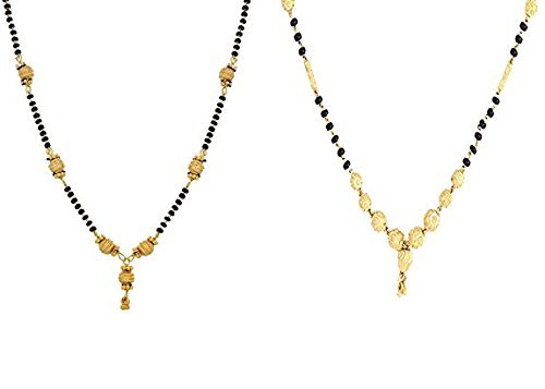 Awww Combo of 2 Gold Plated Mangalsutra Necklace for Women