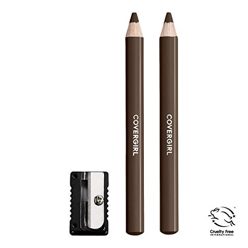 (COVERGIRL Easy Breezy Brow Fill+Define Pencils, [505] Rich Brown, 2 Count (Packaging May Vary))