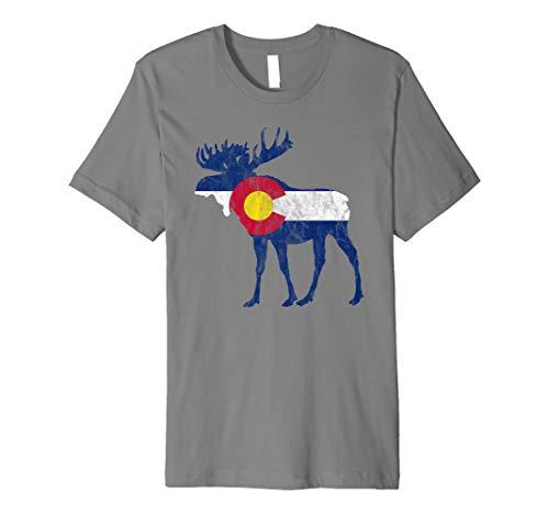 - State Flag of Colorado - Vintage Bull Moose Design