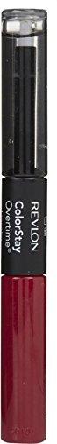 Revlon ColorStay Overtime Liquid Lip Color, Non-Stop Cherry [010] 0.07 oz (Pack of 2)
