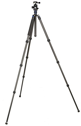 Davis & Sanford TR654C-36 Traverse Carbon Fiber 4 Section Grounder Tripod with Head (Black) by Davis & Sanford