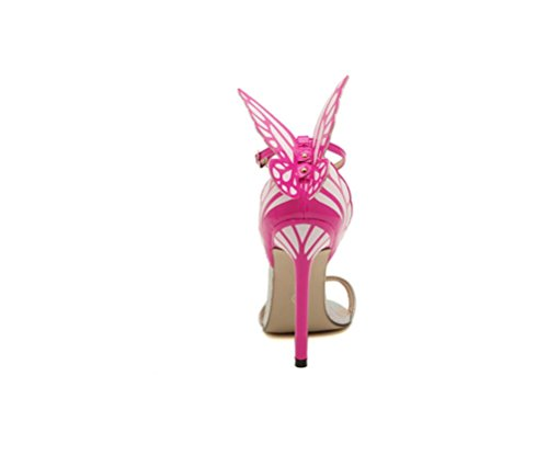 Silber Schmetterlingsabsatz High Runder Kopf Damen Heel Bequemer Feinem mit Absatz Stylisch mit Sandalen LIANGXIE RfOqSx