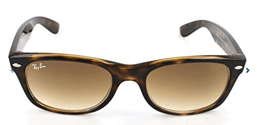 Ray-Ban RB2132 New Wayfarer Sunglasses, Light Tortoise/Brown Gradient, 55 ()