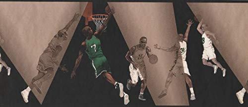 IN2664B Basketball Players Wallpaper Border 10.5