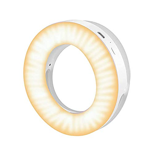 PIKAqiu33 Selfie Light LED Ring Light Selfie Smartphone Light Selfie Auxiliary Light, LED Light, for Xmas Day and New Year (White)