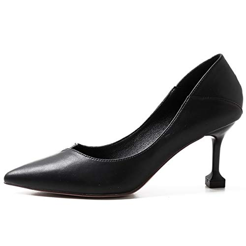 shoes fashion jog sexy Black wild pointy heel shoes LBTSQ thin heels cat fresh little 6cm High 0O6qf6