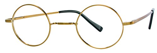 The Boston Round Gold Plated Vintage Metal Eyeglasses for Men and - Dmc Run 80s