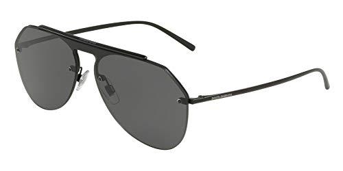Dolce and Gabbana DG2213 110687 Matte Black DG2213 Pilot Sunglasses Lens ()