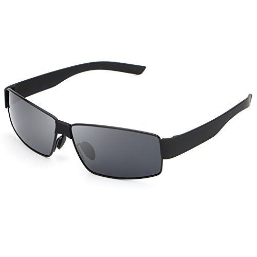 HDCRAFTER Metal Frame Polarized Driving Sunglasses Mens for Outdoor - 64mm Sunglasses