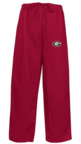 (University of Georgia Bulldogs UGA Medical Regular Scrub Pants (Red, X-Small))