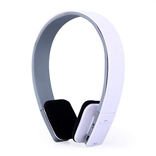 Smart Wireless Bluetooth Stereo Headset Headphone with MIC Support 3.5Mm Stereo Audio Handsfree for Phone Tablet Psps,White
