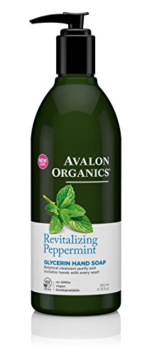 Avalon Organics Revitalizing Peppermint Glycerin Hand Soap, 12 oz.