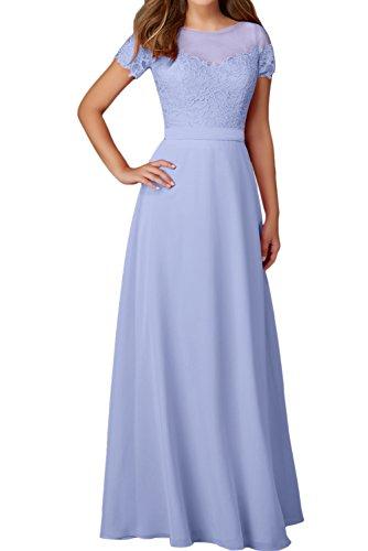 Elegant Aermeln Mit Abendkleider Rundkragen Damen Ballkleid Lavendel Spitze Festkleider Ivydressing SATaFvc